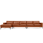 new standard medium sectional leather sofa