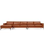 new standard medium sectional leather sofa  - blu dot