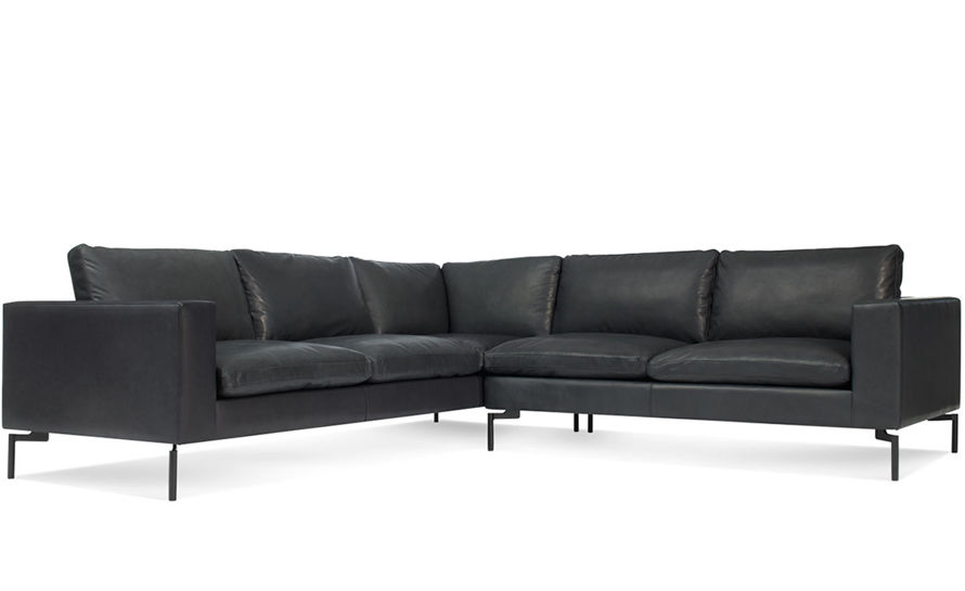 new standard small sectional leather sofa