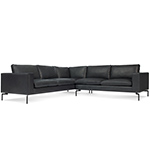 new standard small sectional leather sofa  -