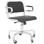 emeco nine-0 task swivel armchair  -