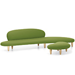 noguchi freeform sofa and ottoman  -