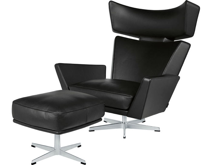 arne jacobsen oksen lounge chair & ottoman