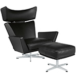 arne jacobsen oksen lounge chair & ottoman  -