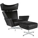 oksen lounge chair & ottoman - Arne Jacobsen - Fritz Hansen