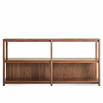 open plan large low bookcase  - blu dot