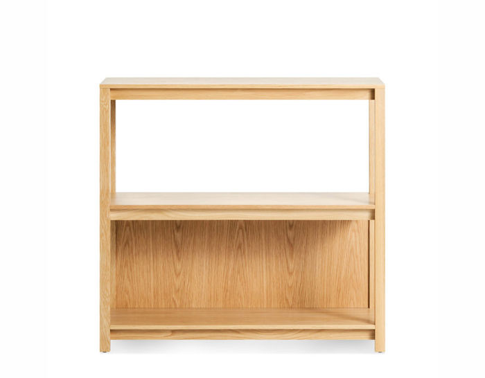 open plan small low bookcase by blu dot