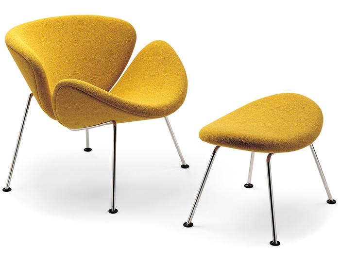 orange slice chair & ottoman