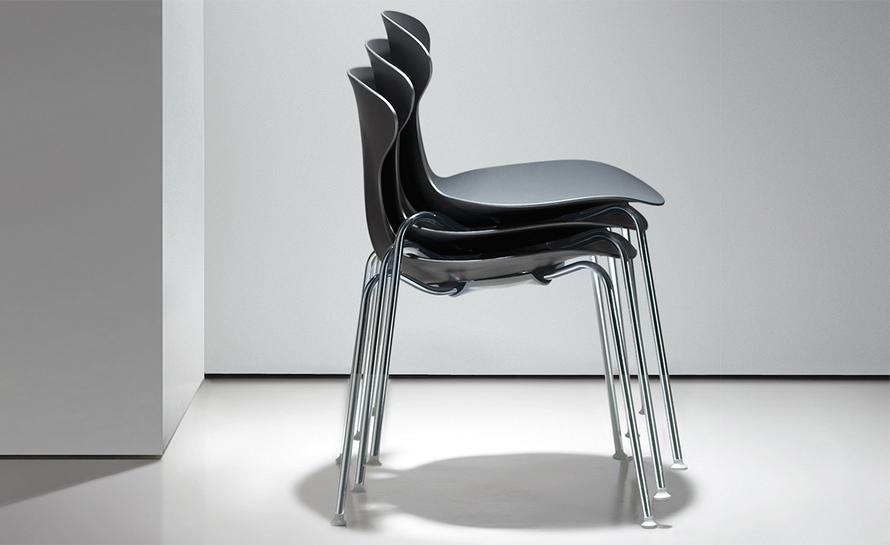 Orbit Plastic Stacking Chair Hivemodern Com