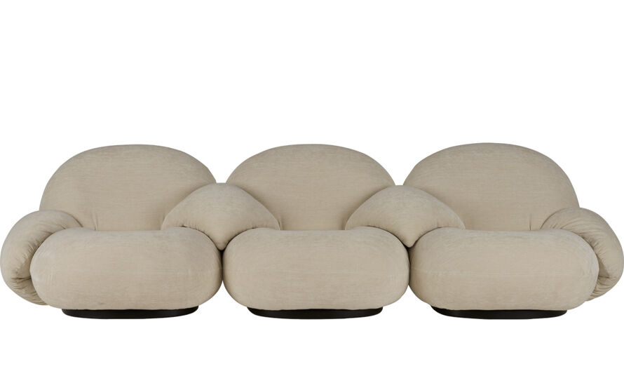 pacha 3 seat sofa with 4 armrests