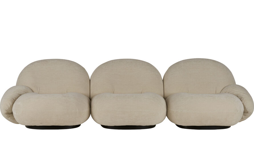 pacha 3 seat sofa with armrests