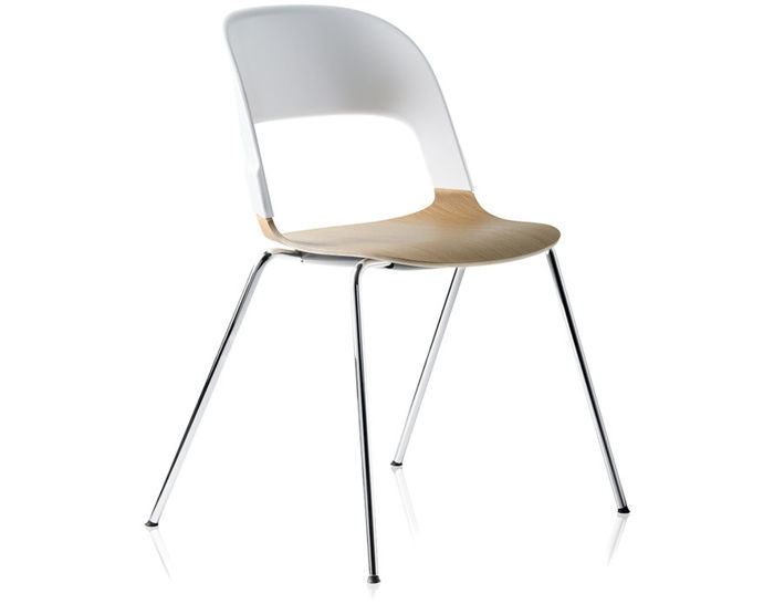 pair chair with 4 leg base