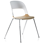 pair chair with 4 leg base  - Fritz Hansen