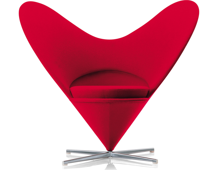 verner panton heart chair. Black Bedroom Furniture Sets. Home Design Ideas