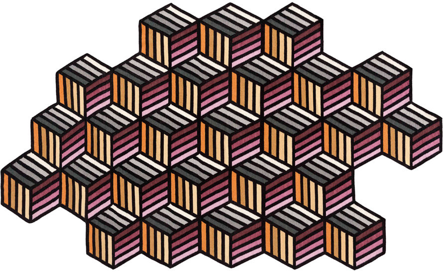 parquet hexagon rug
