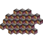 parquet hexagon rug  -