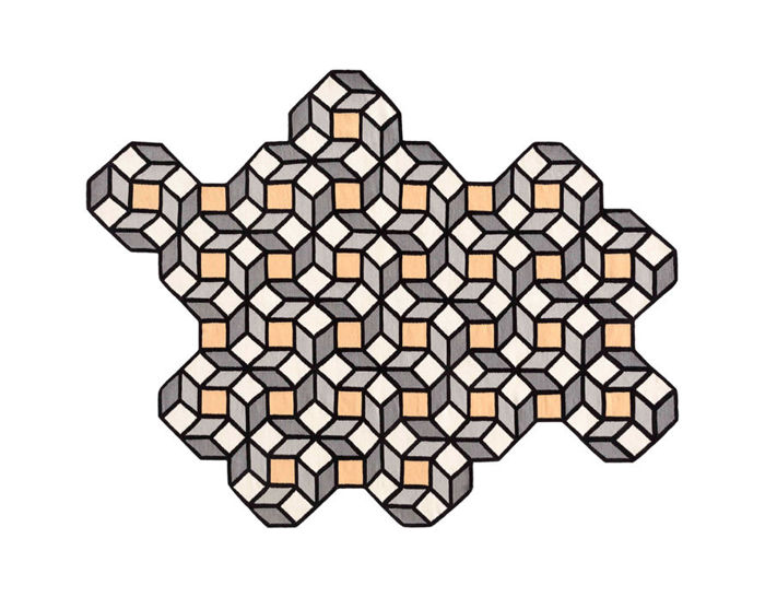 parquet rhomb rug