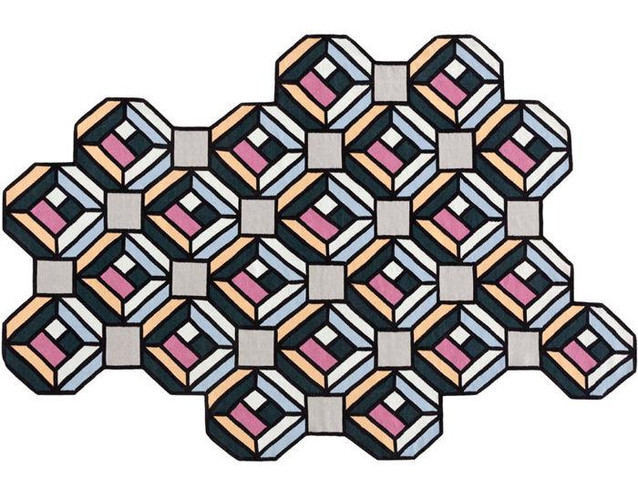 parquet tetragon rug