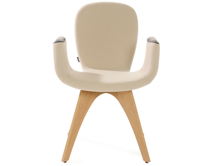 patch 02 armchair with 4 leg base