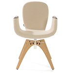 patch 02 swivel armchair with 4 leg base  -