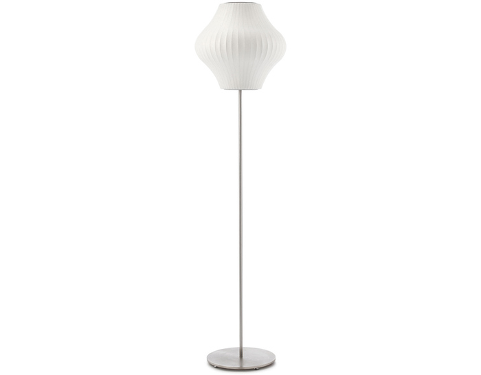 pear bubble floor lamp on lotus stand