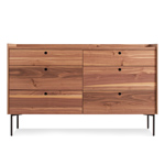 peek 6 drawer dresser  - blu dot