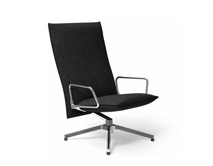 pilot high back lounge chair with loop arms