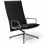 pilot high back lounge chair with loop arms  -