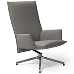 pilot high back lounge chair with upholstered arms  -