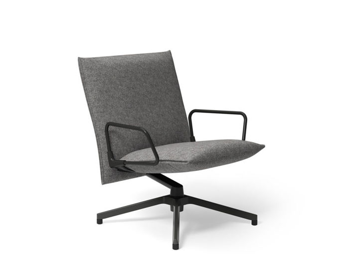 pilot low back lounge chair with loop arms