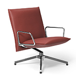 pilot low back lounge chair with loop arms  -