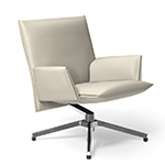pilot low back lounge chair with upholstered arms  -