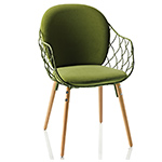 pina chair with full back cushion - Jaime Hayon - magis
