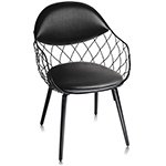 pina chair with split seat/back cushion - Jaime Hayon - magis