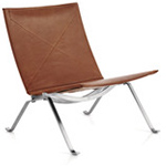 kjaerholm pk22 chair in wicker  -