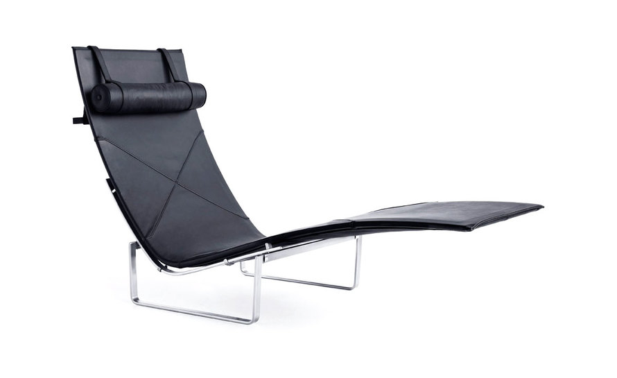 pk24 leather chaise lounge