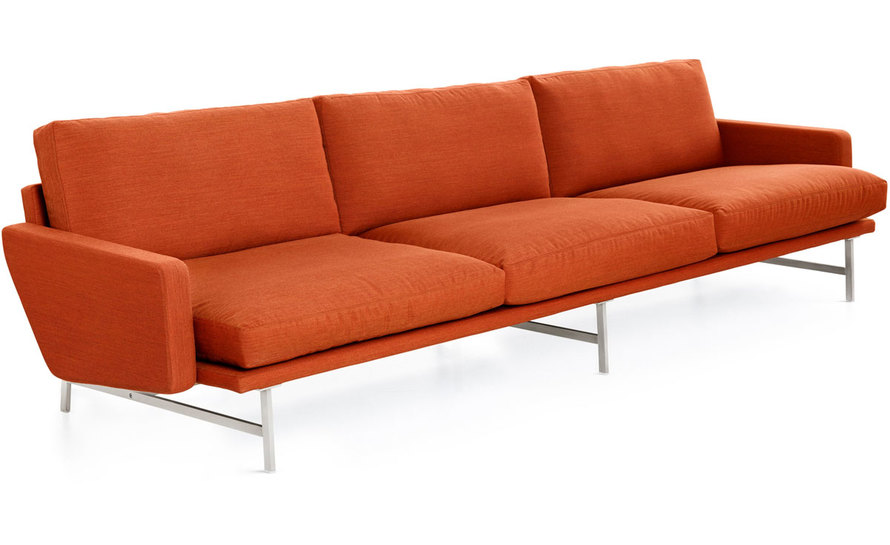 lissoni pl113 3 seat sofa