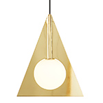 plane triangle pendant light