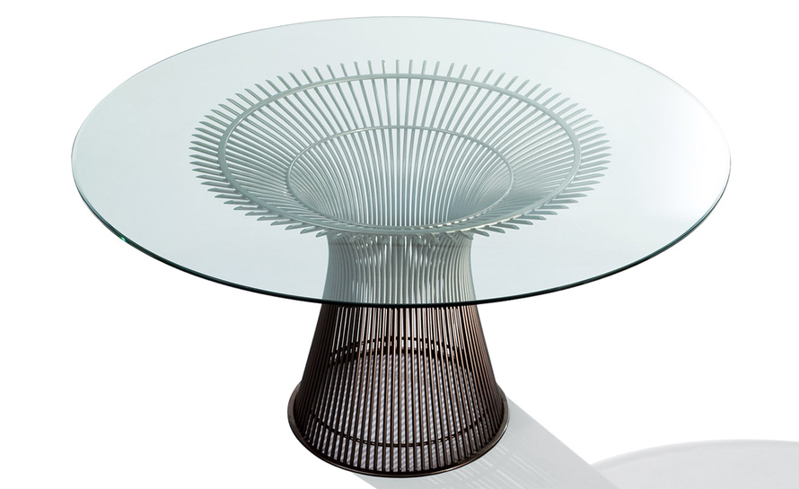 Platner Bronze Dining Table hivemoderncom : platner bronze dining table warren platner knoll 1 from hivemodern.com size 890 x 545 jpeg 112kB