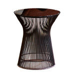 platner bronze side table