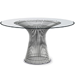 platner nickel dining table - Warren Platner - Knoll