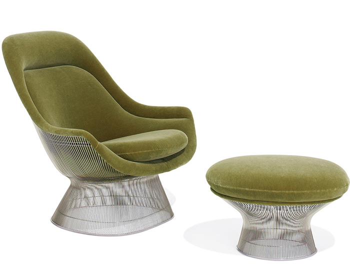 platner easy chair and ottoman