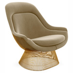 platner gold plated easy chair - Warren Platner - Knoll