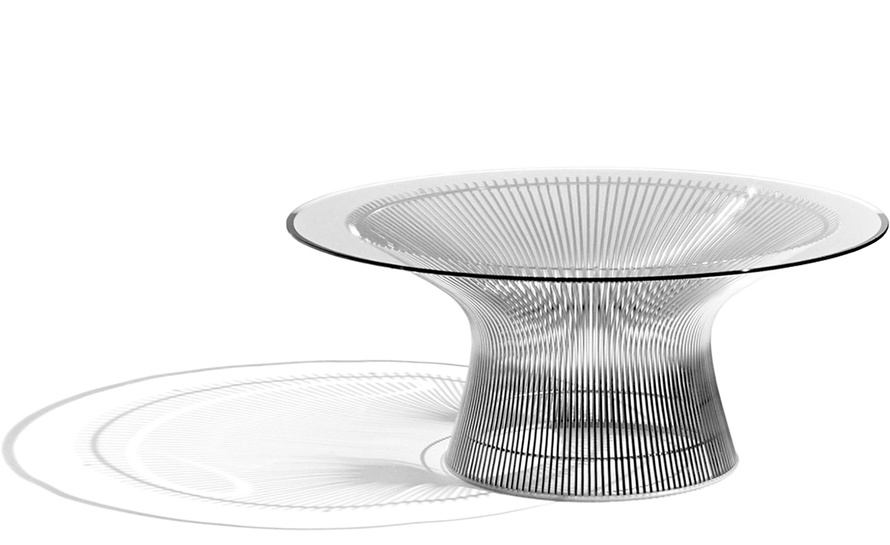 platner nickel coffee table 36