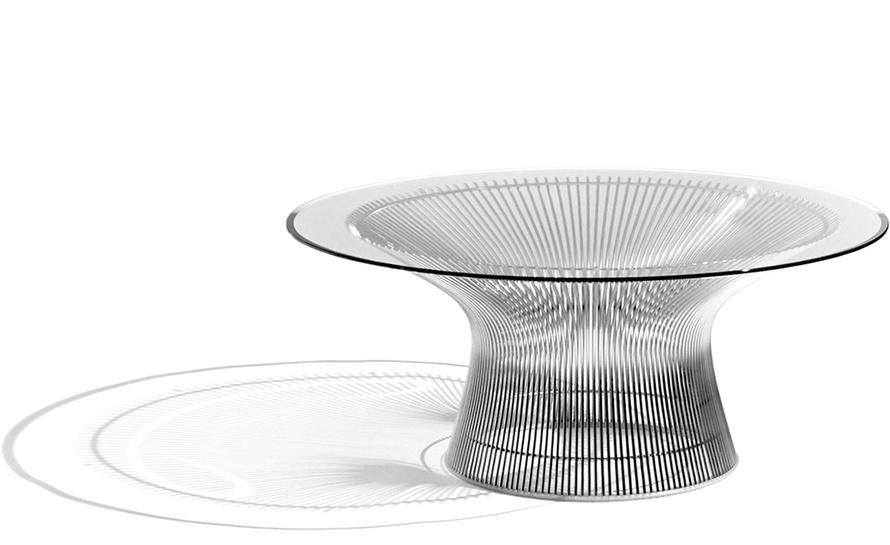 platner nickel coffee table 36