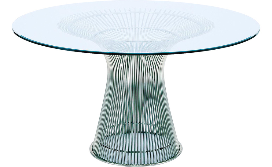 Platner Nickel Dining Table hivemoderncom : platner nickel dining table warren platner knoll 1 from hivemodern.com size 890 x 545 jpeg 110kB
