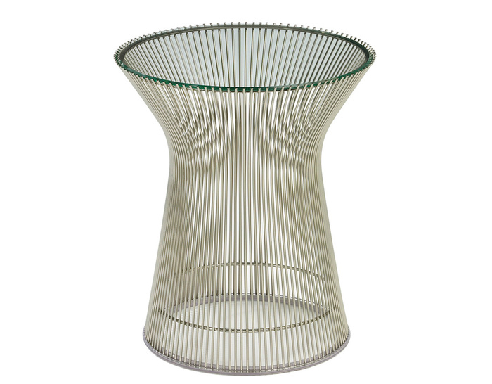 platner nickel side table