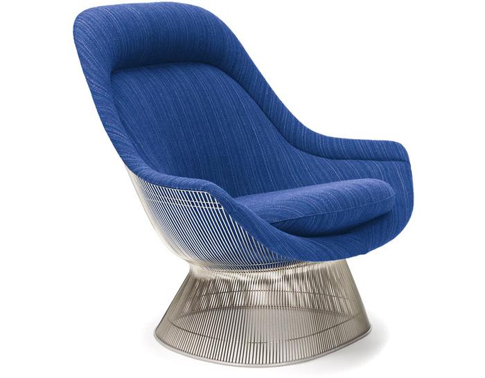 platner polished nickel easy chair