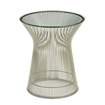 platner nickel side table  -