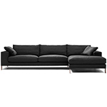 plaza 3 seat sectional sofa  -